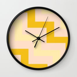 Chevron diagonal 90s Wall Clock
