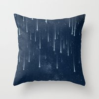 stars Throw Pillows featuring Wishing Stars by Paula Belle Flores