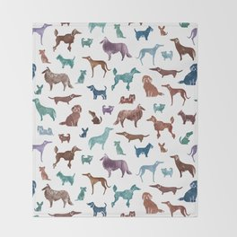 Doggies all over Throw Blanket