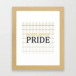 Hufflepuff Pride Framed Art Print