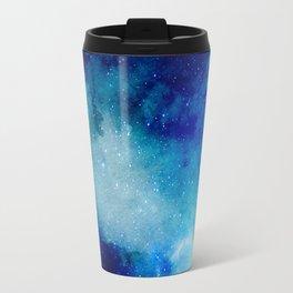 Blue Watercolor Space Pattern Travel Mug