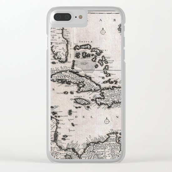 Vintage Americas Map Clear iPhone Case