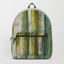 Abstract artwork #19 - The Green Light Of Nature - Abstract painting Backpack