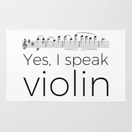 I speak violin Rug