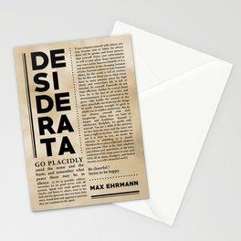 Desiderata by Max Ehrmann - Typography Print 30 Stationery Cards