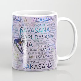 Yoga Asanas/Poses Sanskrit Word Art Coffee Mug