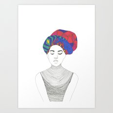 Fashion Illustration 1  Art Print