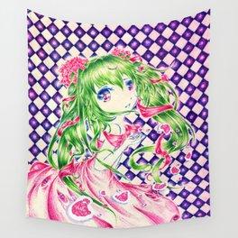 Miku FANART (pluma de 4 colores) Wall Tapestry