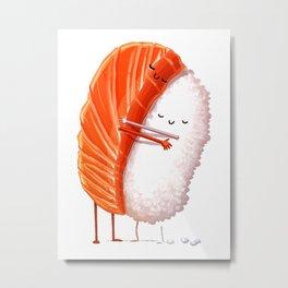 sushi hugs love Metal Print