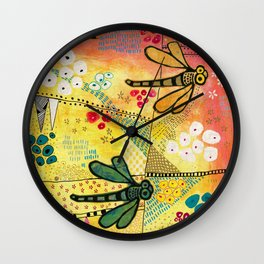 Flight of the Dragonfly Wall Clock