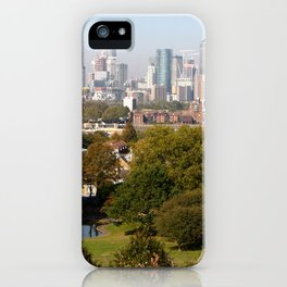 City of London from Greenwich Hill iPhone Case