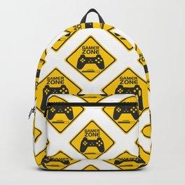 Gamer Zone Pattern Backpack