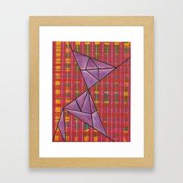 warp and weft // .02 Framed Art Print