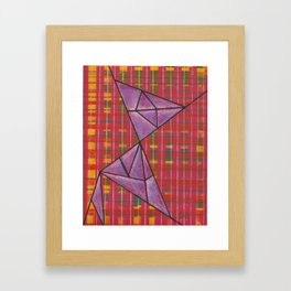 warp and weft // .02 Framed Art Print