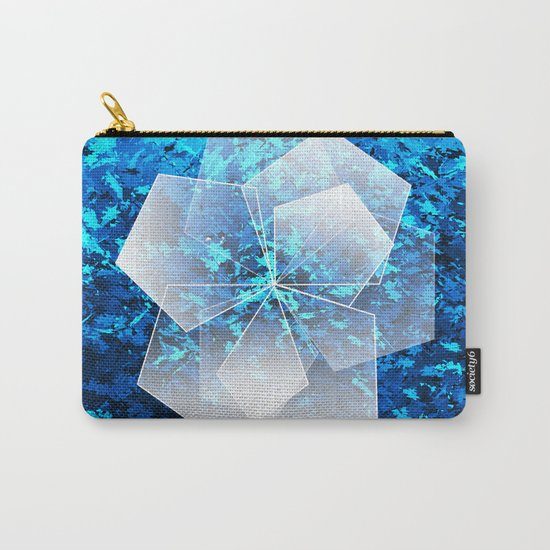 Geometric Ice Flower Carry-All Pouch