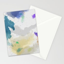 Watercolor Canvas Stationery Cards