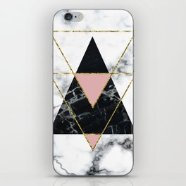Geo glam marble iPhone Skin