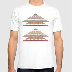AZTEC STRIPES Mens Fitted Tee White MEDIUM
