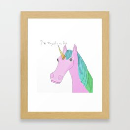 Unicorns are Majestic Framed Art Print
