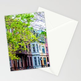 Brooklyn Rainbow Brownstones Stationery Cards