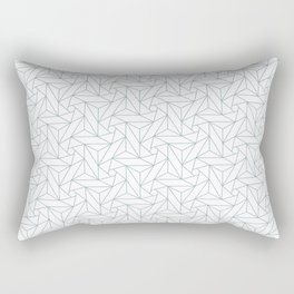Pastel Blue & White Abstract Triangle Geometric Mosaic Shape Pattern Pairs To 2020 Color of the Year Rectangular Pillow