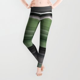 Olive green and grey Leggings