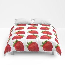 Red Strawberries Comforters