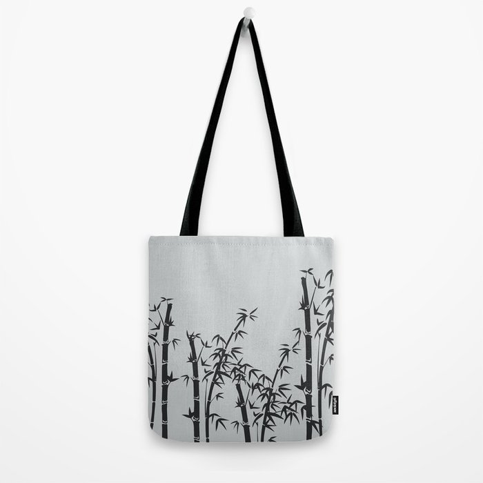 Bamboo black - grey Tote Bag