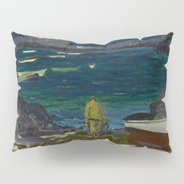The Harbor, Monhegan Coast, Maine, 1913 Pillow Sham