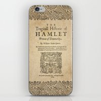 hamlet iPhone & iPod Skins featuring Shakespeare, Hamlet 1603 by BiblioTee