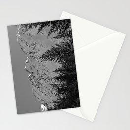 Gwin's Winter Vista - B & W Stationery Cards