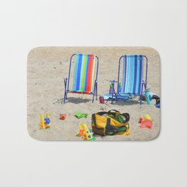 at the beach Bath Mat
