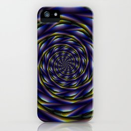 Spiral Tunnel in Violet Yellow and Blue iPhone Case