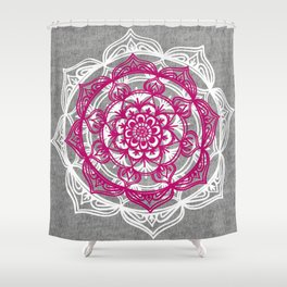 Mandala on Gray Jersey Shower Curtain