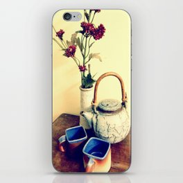 Over a cup of tea iPhone Skin