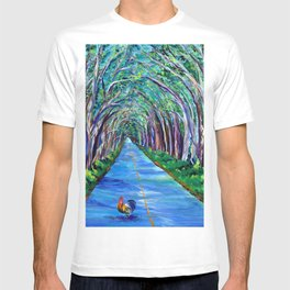 Tree Tunnel with Rooster T-shirt