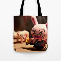 bacon Tote Bags featuring Bacon by m4Calliope
