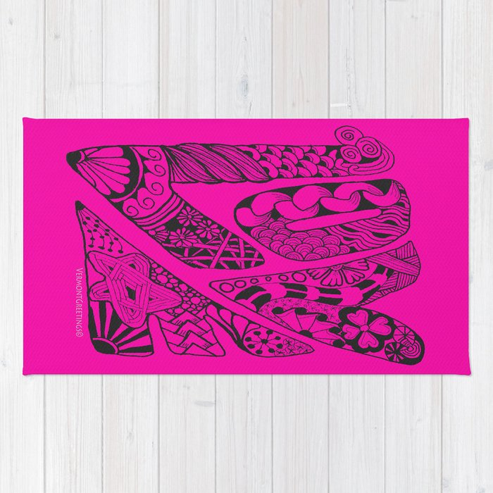 LOVE Out Loud Pink and Proud! Rug