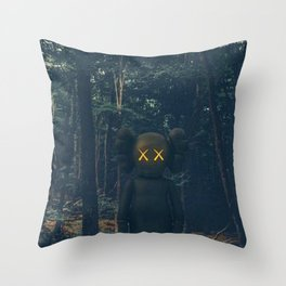 Kaws Throw Pillow