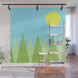Sunny Day Happy Painting | For kids! Wall Mural