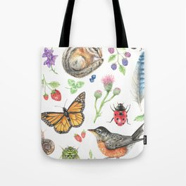 Flora and Fauna of Summer Tote Bag
