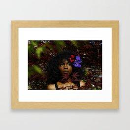 Char in a Bush Framed Art Print