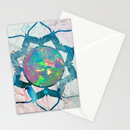 Psychedelic Crystal Lotus 2 Stationery Cards
