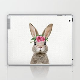Baby Rabbit with Flower Crown Laptop & iPad Skin