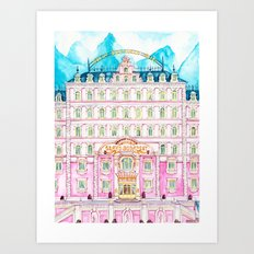GRAND BUDAPEST / WES ANDERSON MOVIE ART Art Print