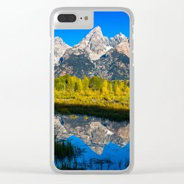 Grand Teton - Reflection at Schwabacher's Landing Clear iPhone Case
