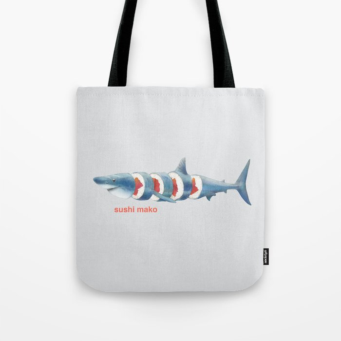 Sushi Mako (color option) Tote Bag