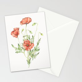 Fragile Beauty - Watercolor Poppies Stationery Cards