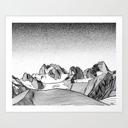 Snowpatch Spire Art Print