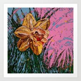 Barbara's flower Remix 1 Art Print